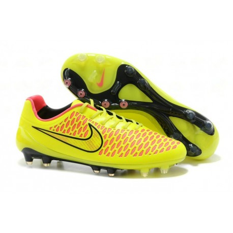 New Nike Magista Opus FG Football Boots - Low Price - Yellow Pink Black