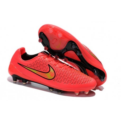 New Nike Magista Opus FG Football Boots - Low Price - Pink Yellow Black