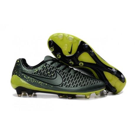 2016 Nike Magista Opus Men's Firm-Ground Soccer Cleats Dark Citron Volt Black