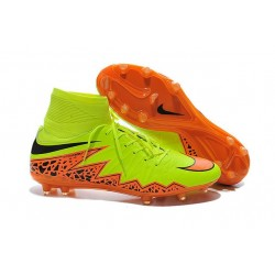 2016 Best Nike Hypervenom Phantom II Soccer Shoes Volt Orange Black