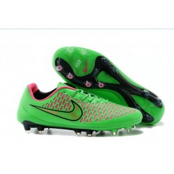 2016 Nike Magista Opus Men's Firm-Ground Soccer Cleats Green Pink Black