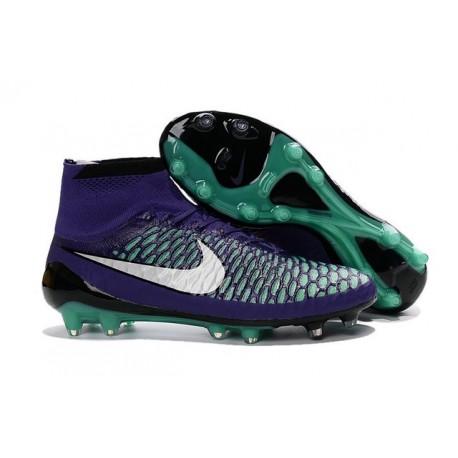 2016 New Soccer Shoes - Nike Magista Obra FG Purple White Green Black