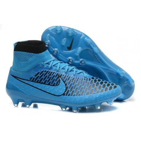 Best Nike Magista Obra FG Shoes For Men Turquoise Blue Black