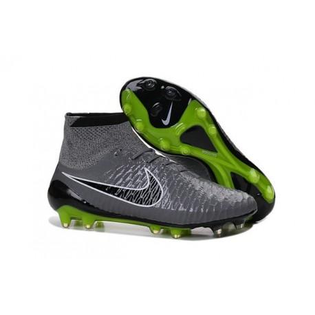 Football Boots For Men Nike Magista Obra FG Grey Black Green