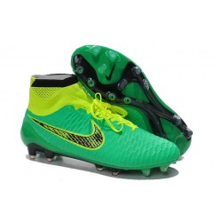 Football Boots For Men Nike Magista Obra FG Green Volt Black