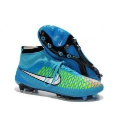 2016 New Soccer Shoes - Nike Magista Obra FG Blue Green Black White Red