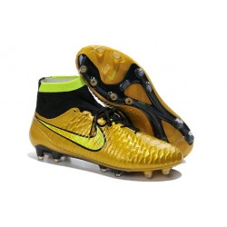 Football Boots For Men Nike Magista Obra FG Gold Volt Black