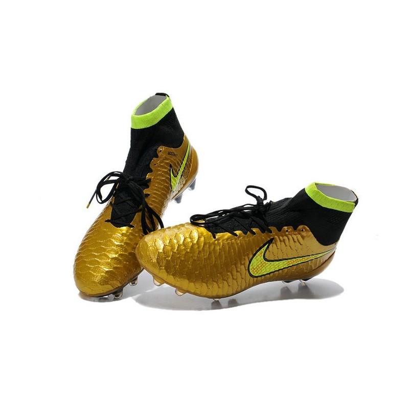 nouveau produit 756eb 0bb85 Football Boots For Men Nike Magista Obra FG Gold Volt Black
