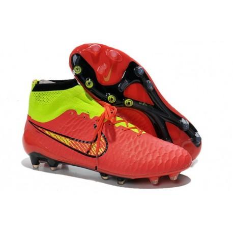 Football Boots For Men Nike Magista Obra FG Red Volt Black