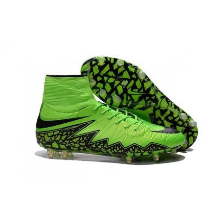2016 Best Nike Hypervenom Phantom II Soccer Shoes Green Black