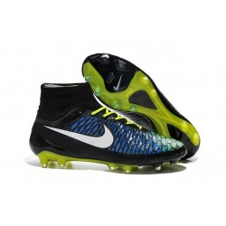 2016 New Soccer Shoes - Nike Magista Obra FG Blue Volt Black White