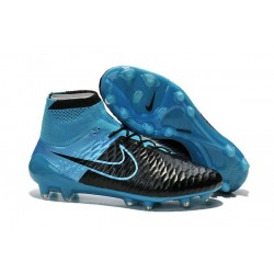 Best Nike Magista Obra FG Shoes For Men Leather Black Blue