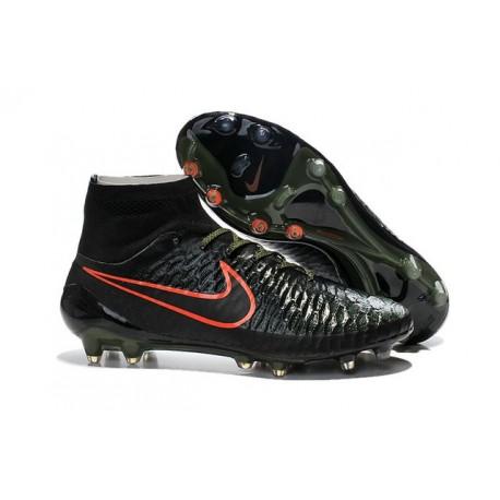 2016 New Soccer Shoes - Nike Magista Obra FG Black Red Green Hyper Crimson