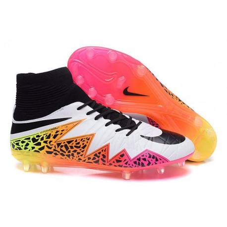Nike Hypervenom 2 Phantom Men's Nike Football Cleats White Orange Pink Black