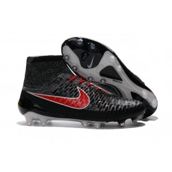 2016 New Soccer Shoes - Nike Magista Obra FG Black Hyper Crimson