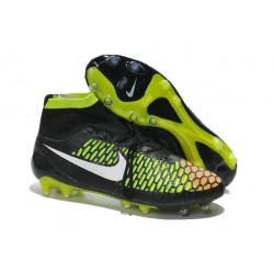 Best Nike Magista Obra FG Shoes For Men Black Volt Hyper Punch White
