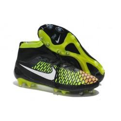 Best Nike Magista Obra FG Shoes For Men Black Volt Hyper Punch White
