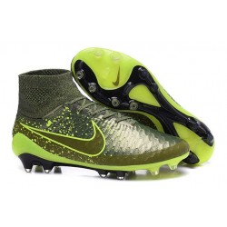 Best Nike Magista Obra FG Shoes For Men Green Black