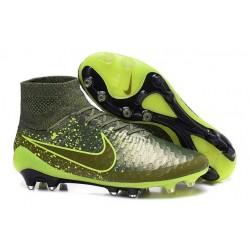 Best Nike Magista Obra FG Shoes For Men Green Black