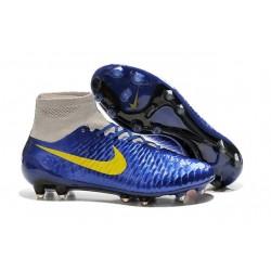 Football Boots For Men Nike Magista Obra FG Navy Blue Grey