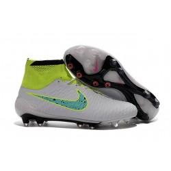 2016 New Soccer Shoes - Nike Magista Obra FG White Volt Green Black