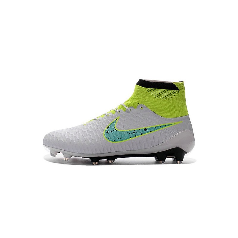 2016 New Soccer Shoes - Nike Magista Obra FG White Volt Green Black