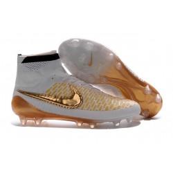 Best Nike Magista Obra FG Shoes For Men White Glod Black