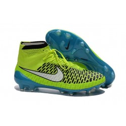 Football Boots For Men Nike Magista Obra FG Volt White Blue Lagoon Black