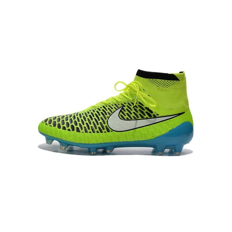 nouveau produit 9c733 5614c Football Boots For Men Nike Magista Obra FG Volt White Blue ...