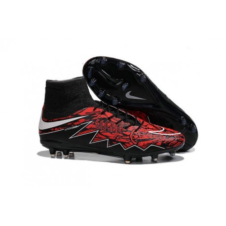 Nike Hypervenom 2 Phantom Men's Nike Football Cleats Robert Lewandowski Black White Red
