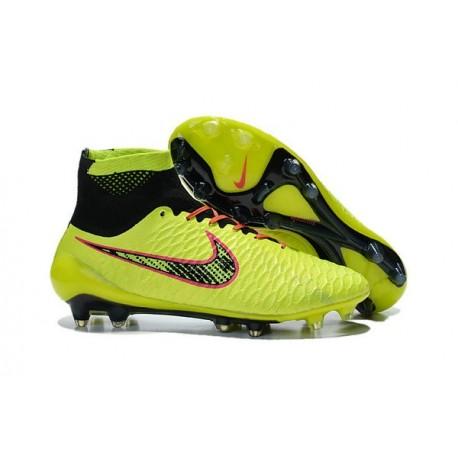 2016 New Soccer Shoes - Nike Magista Obra FG Volt Orange Pink Black