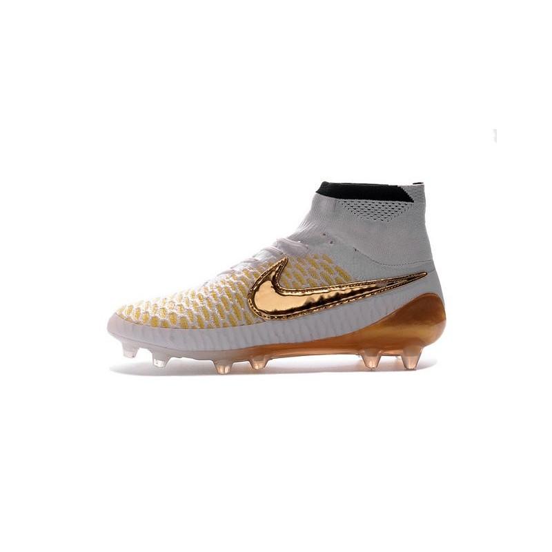 design intemporel d502e 4e1c8 Best Nike Magista Obra FG Shoes For Men White Glod Black