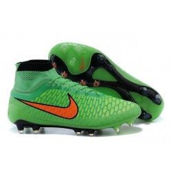Football Boots For Men Nike Magista Obra FG Poison Green Total Orange Black