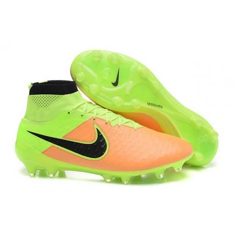 Football Boots For Men Nike Magista Obra FG 2016 Leather Canvas Black Volt