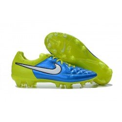 Nike Football Boots For Men - Tiempo Legend V FG Blue Volt White