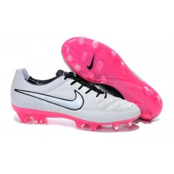 2016 Nike Tiempo Legend V FG - Best Soccer Cleats Black White Pink