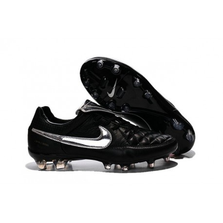 Nike Football Boots For Men - Tiempo Legend V FG Totti Premium Silvery Black