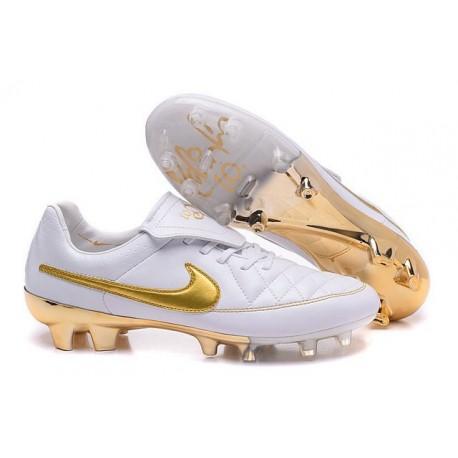 2016 Nike Tiempo Legend V FG - Best Soccer Cleats Tiempo R10 White Golden
