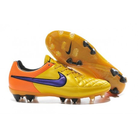 2016 Nike Tiempo Legend V FG - Best Soccer Cleats Laser Orange Persian Violet Total Orange Violet