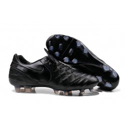 2016 Latest Nike Shoes - Nike Tiempo Legend 6 FG Football Shoes Black-out