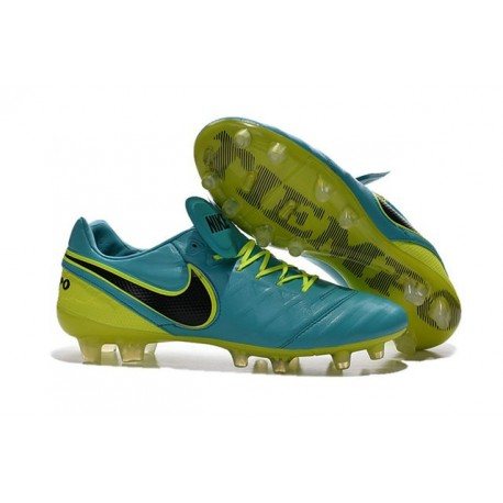 New Cleats Nike Tiempo Legend VI FG Football Boots For Men Blue Volt Black