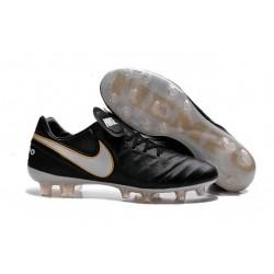 2016 Latest Nike Shoes - Nike Tiempo Legend 6 FG Football Shoes Black White Gold