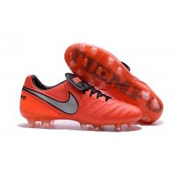 2016 Latest Nike Shoes - Nike Tiempo Legend 6 FG Football Shoes Orange Black Grey