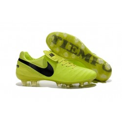 2016 Latest Nike Shoes - Nike Tiempo Legend 6 FG Football Shoes Volt Black