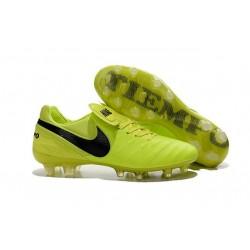 2016 Latest Nike Shoes - Nike Tiempo Legend 6 FG Football Shoes Volt Black