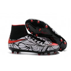Nike Hypervenom 2 Phantom Men's Nike Football Cleats Black Bright Crimson White