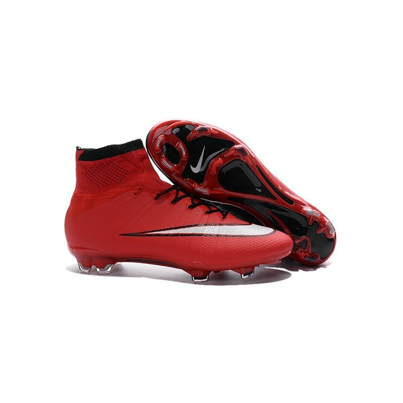 ... shoes for men nike mercurial superfly iv fg football cleats red black  white