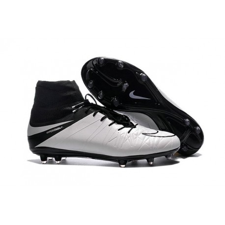 2016 Best Nike Hypervenom Phantom II Soccer Shoes Light Bone Black