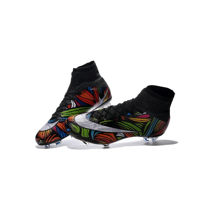 nike mercurial superfly fg soccer boots cleats noir or