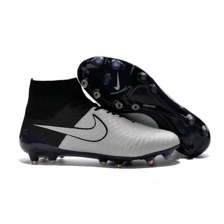 2016 New Soccer Shoes - Nike Magista Obra FG Leather Light Bone Light Bone Black Black